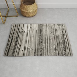 Black white and grey  wooden floor Rug