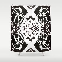 Black and White Ink Blot Shower Curtain