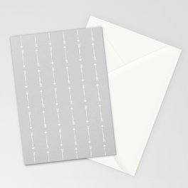 DENIM ARROWS . SILVER CHAMBRAY Stationery Cards