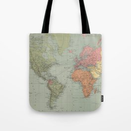 Vintage Map of The World (1889) Tote Bag