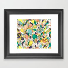 Balloons in bloom Framed Art Print