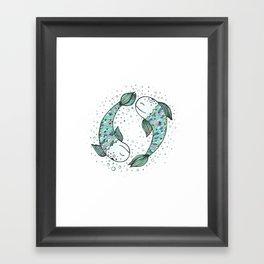 Pisces - weird fishes Framed Art Print