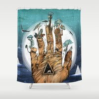stargate Shower Curtains featuring Stargate by Sandra Dieckmann