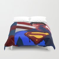 superman Duvet Covers featuring Superman by Scar Design