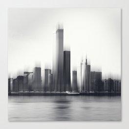 Rotterdam Skyline Abstraction Canvas Print