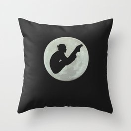 Pike Position Moon Diver Throw Pillow