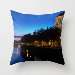 Four Courts Dublin Throw Pillow
