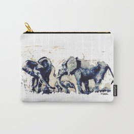 ELEPHANTS    East Africa     By Lipton on Safari Carry-All Pouch