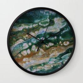 Viridian Lagoon Wall Clock