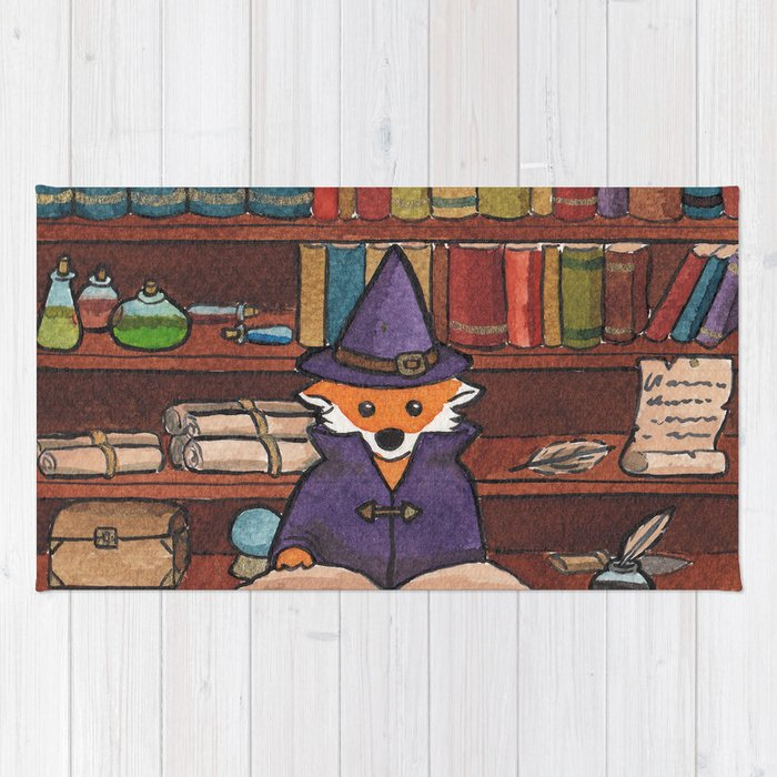 James the Wizard Fox Rug