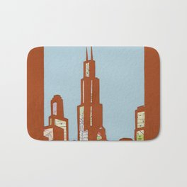Chicago Skyline Collage Bath Mat