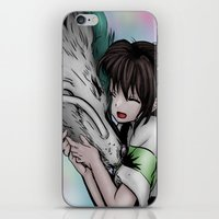 anime iPhone & iPod Skins featuring ilustración anime by paus_12