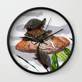 turtle relaxation Wall Clock