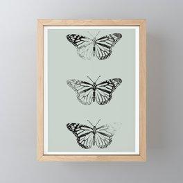 Butterflies on green Framed Mini Art Print
