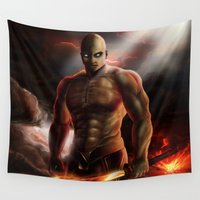 doom Wall Tapestries featuring Doom by ED Art Studio