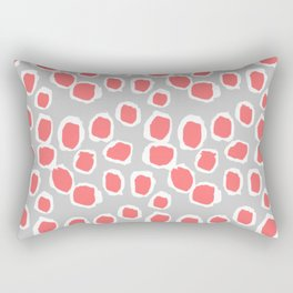 Zola - Abstract painted dots, painterly, bold pattern, surface pattern, print pattern design Rectangular Pillow