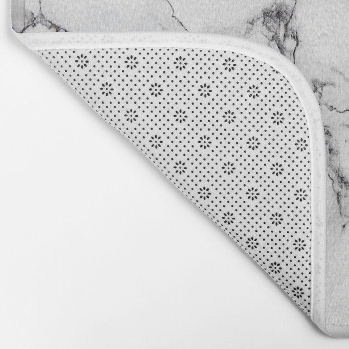 White Marble Texture Badematte