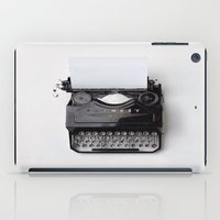 typewriter iPad Cases featuring Typewriter by dreamshade