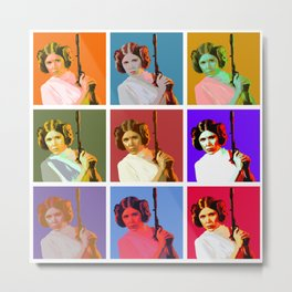 Popart Leia from Star Wars Episode 4 Metal Print