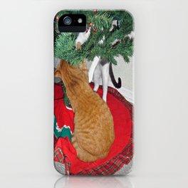 12 cats a-climbing iPhone Case