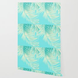 Palm Leaves Summer Vibes #4 #tropical #decor #art #society6 Wallpaper