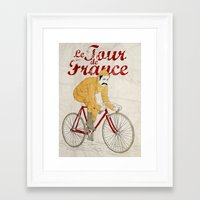 tour de france Framed Art Prints featuring tour de france by cikuta