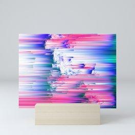 Only 90s Kids - Pastel Glitchy Abstract Pixel Art Mini Art Print