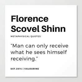 43     | Florence Scovel Shinn Quotes | 200126 Canvas Print