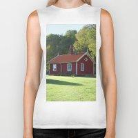 swedish Biker Tanks featuring Swedish Cottage  by Sarah Osterman