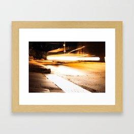 Flying Taxi Framed Art Print
