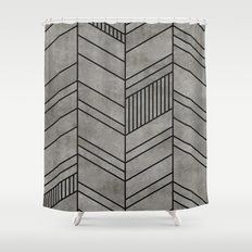 Nordic Shower Curtains Society - Black and white chevron shower curtain