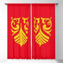 flag of vestfold og telemark Blackout Curtain
