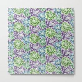 Pattern Succulent Metal Print