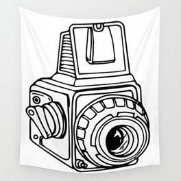 Medium Format SLR Camera Drawing Wall Tapestry