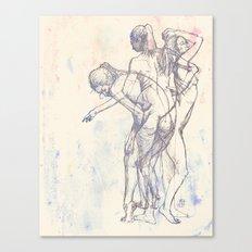 Motion Figure Color Canvas Print