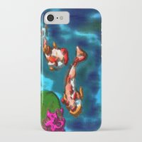 koi fish iPhone & iPod Cases featuring KOI FISH by aztosaha