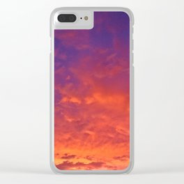Sunset In Florida Clear iPhone Case