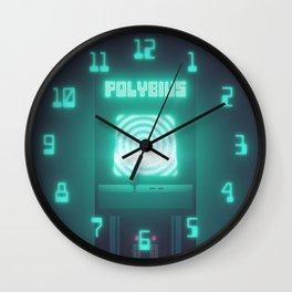 Polybius Arcade Game Machine Cabinet - Front Black Wall Clock