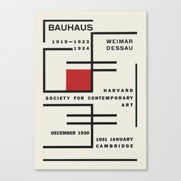 Bauhaus - Exhibition poster for Harvard Society for Contemporary Art, 1931 Canvas Print