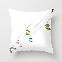 Sky Buckets Throw Pillow