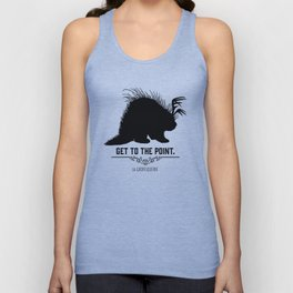 Get to the Point - Porculope Silhouette Unisex Tank Top