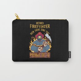Retired Firefighter Proud Dad Grandfather Retirement Gift  Fire Department Carry-All Pouch