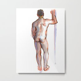 PATRICK, Nude Male by Frank-Joseph Metal Print