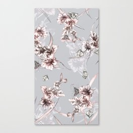 Crystalized Florals Canvas Print