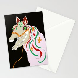 Horse head skull of Mari Lwyd celebration Wales good luck Stationery Cards