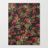 flower pattern Canvas Prints featuring Flower Pattern by ricardogarcia