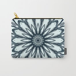 Black and White w/Teal Accent Mandala Carry-All Pouch