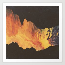 "Glitch art, ""Eruption"" 2014 Art Print"