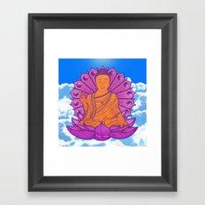 Peace Buddha in the Sky Framed Art Print