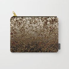 Caramelized Chocolate Brown Wet Crackle Pattern Carry-All Pouch